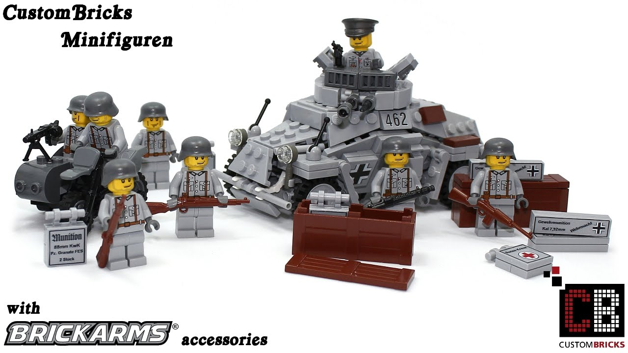 Brickarms ww2 zubeh 246 r mit custombricks minifiguren aus lego