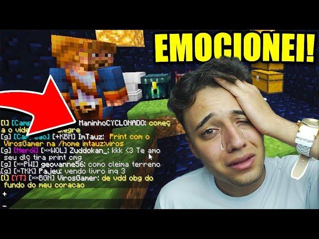 Minecraft: ME EMOCIONEI COM AS PALAVRAS DESSE INSCRITO! (Factions Classic) #13 ‹ Viros ›