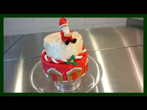2 etagen weihnachtstorte weihnachtliche fondant torte mit royalicing kuchenfee youtube. Black Bedroom Furniture Sets. Home Design Ideas