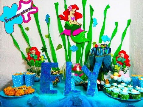 Ideas para una fiesta de LA SIRENITA (Candy bar/mesa de dulces) SUPERMANUALIDADES