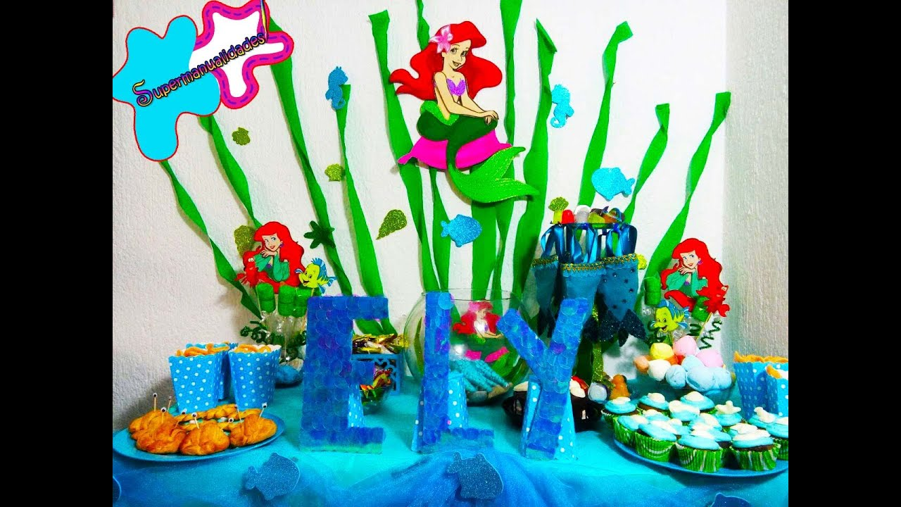 Ideas For A Little Mermaid Party Candy Bar