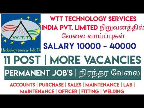 PERMANENT JOBS @ WTT Technology Services India Pvt. Limited - Latest Job Vacancy