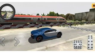 TRAIN VS CAR RACING BUGATTI CHIRON UNLOCKED ANDROID GAMEPLAY FHD