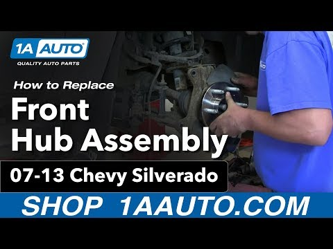 How To Replace Front Wheel Bearing & Hub 07-13 Chevy Silverado