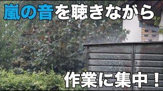 【作業用BGM】☔嵐の音を聴きながら作業に集中!