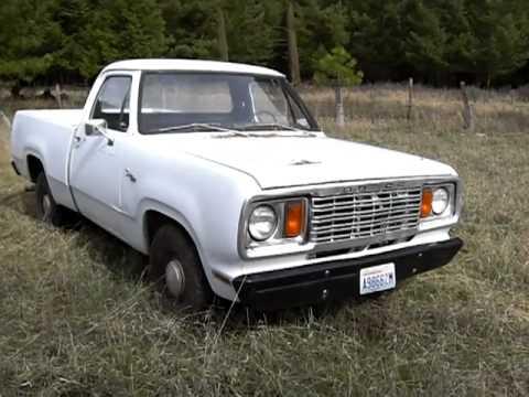 1978 Dodge D100 225 Slant 6 1/2ton 2wd - YouTube