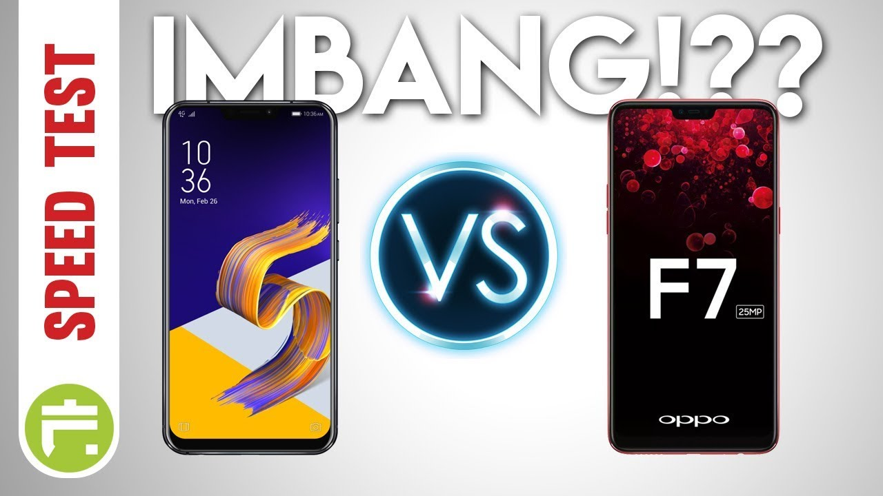 Speed Test Asus Zenfone 5 Ze620kl Versus Oppo F7 Youtube