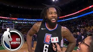 DeAndre Jordan on career-high 30 vs. Celtics: 'They just were finding the hot hand tonight' | ESPN