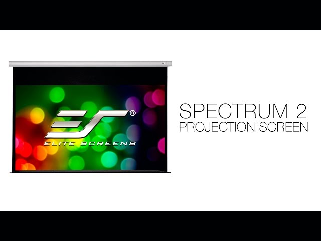 Elite Screens Spectrum 2 Series Electric Projection Screen Video