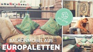 Balkonmöbel aus Paletten selber bauen   Balkon    DIY   Upcycling   How to   Balkonmöbel