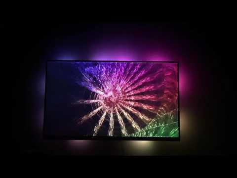 Lightpack with Milkdrop Visualizer on TV
