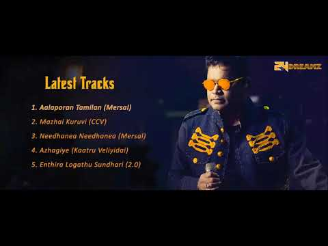 A.R Rahman Latest Top 5 Tracks  2018 | ARR Jukebox 2018 | Mersal | CCV | Kaatru Veliyidai | 2.0