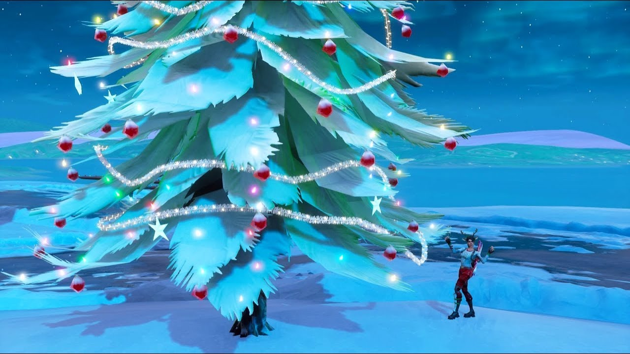 All Christmas Tree Locations Fortnite.Fortnite Battle Royale All 13 Holiday Tree Locations 14 Days Of Fortnite Challenges