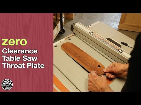 Zero Clearance Throat Plate for Ridgid Table Saws