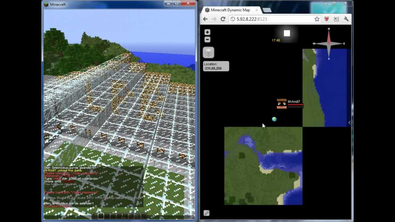 Dynmap Plugin Minecraft Deutsch HD Livemap In Minecraft YouTube - Minecraft server map erstellen