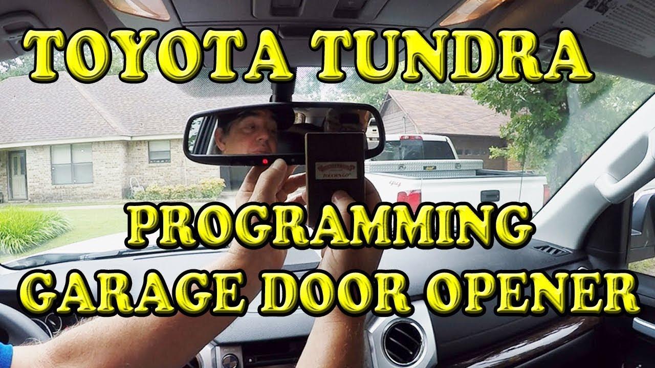 Toyota Tundra Programming Garage Door Opener Youtube