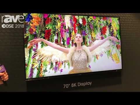 Sharp Showcases Its 8K Technology in 70-Inch Display at DSE 2018
