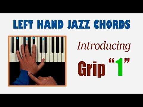 "Left hand jazz piano chords with exercises: ""minor 7"" & ""sus"""