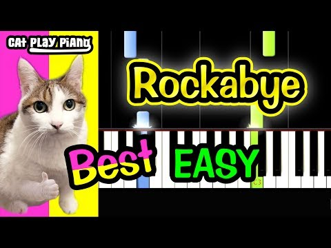 Rockabye - Piano Tutorial Easy + Free Sheet Music PDF - Clean Bandit