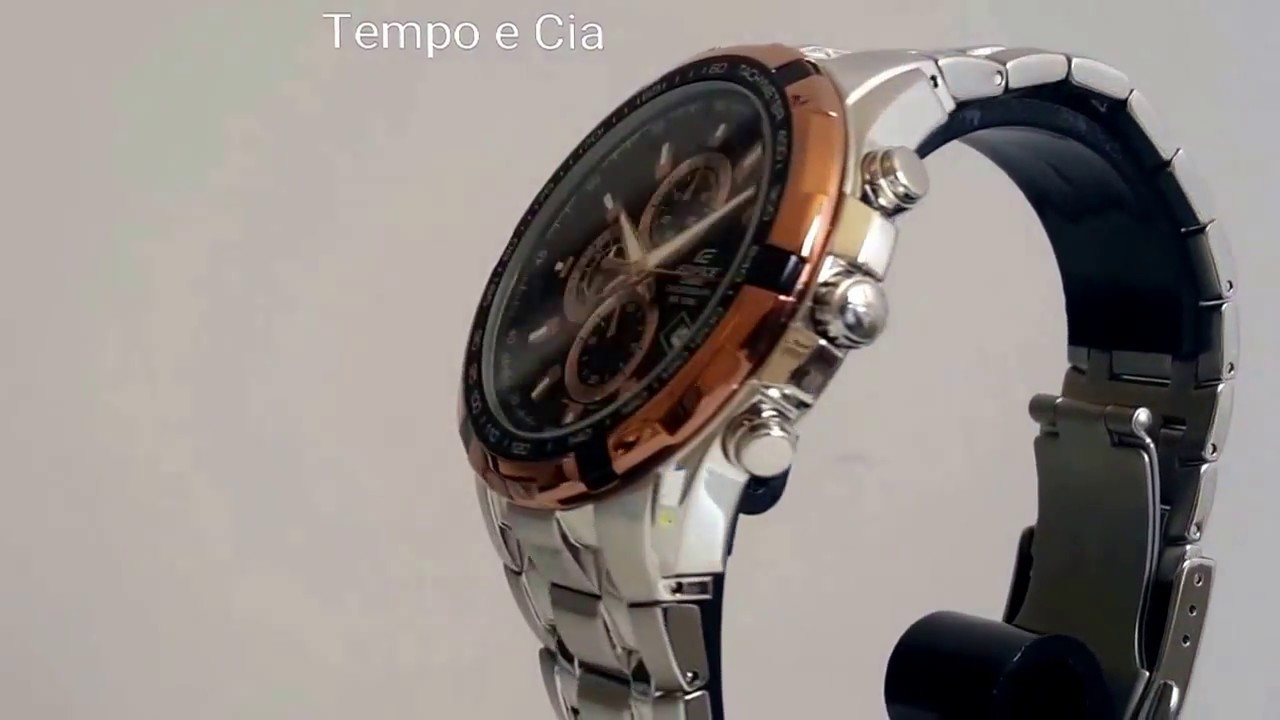 2bb670455cc6 Relógio Casio Edifice Cronógrafo EF539d1a5vdf - YouTube