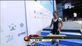 Чемпионат мира по тяжелой атлетике: Жаныл Окоева (Кыргызстан)