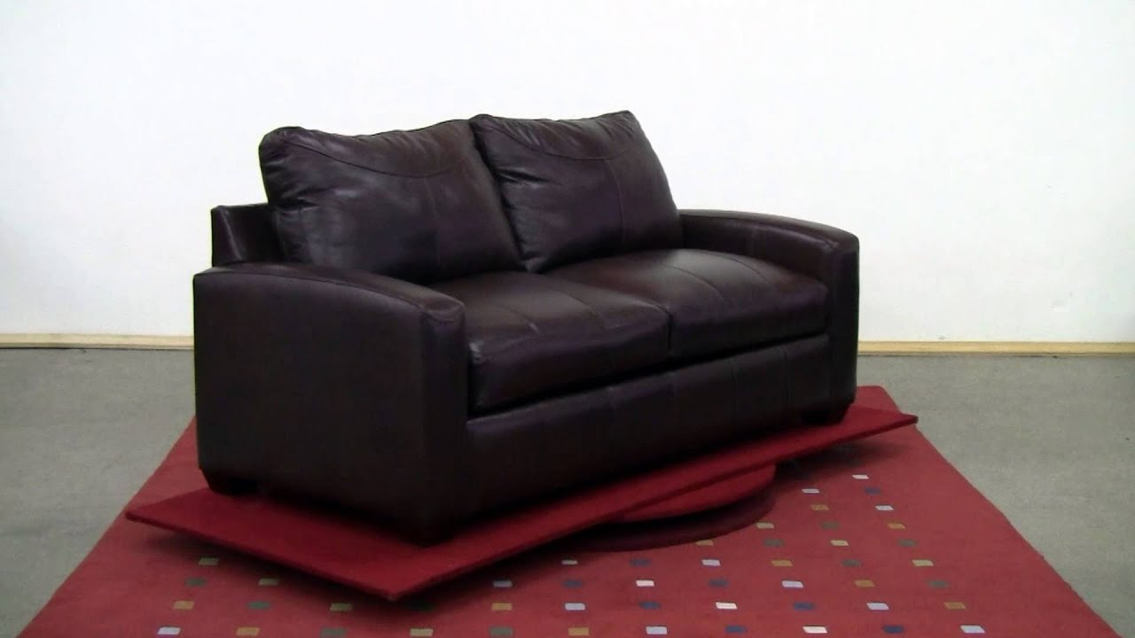 The Boulder Full Leather Sleeper Sofa By Savvy Review At Sleepers In  Seattle   YouTube