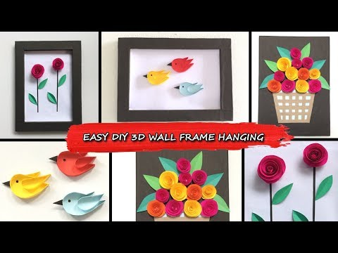 DIY Wall Decoration Photo frame Hanging Ideas for Homes| Room Decor Handmade Picture Frame Making