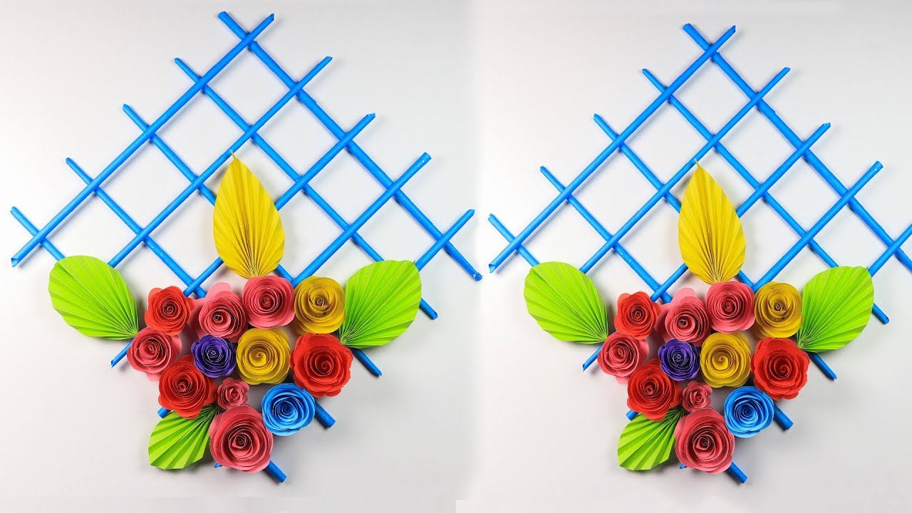 Paper Flower Wall Hanging: How To Make Beautiful Wall