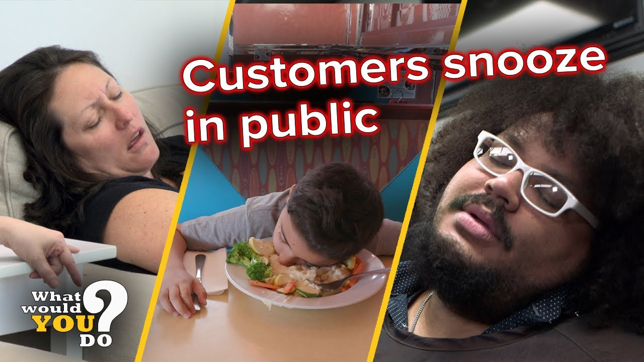 Customers snooze in public | WWYD