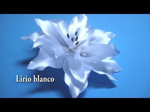 # - DIY Lirio blanco, como se hace paso a paso, # - DIY White lily, as it is done step by step,