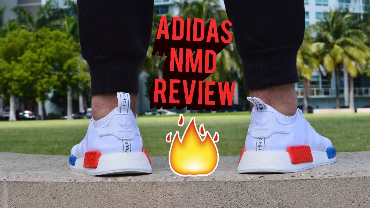 ADIDAS NMD R1 PK WHITE OG REVIEW!!