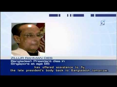 Bangladeshi President Rahman dies in Singapore - 20Mar2013