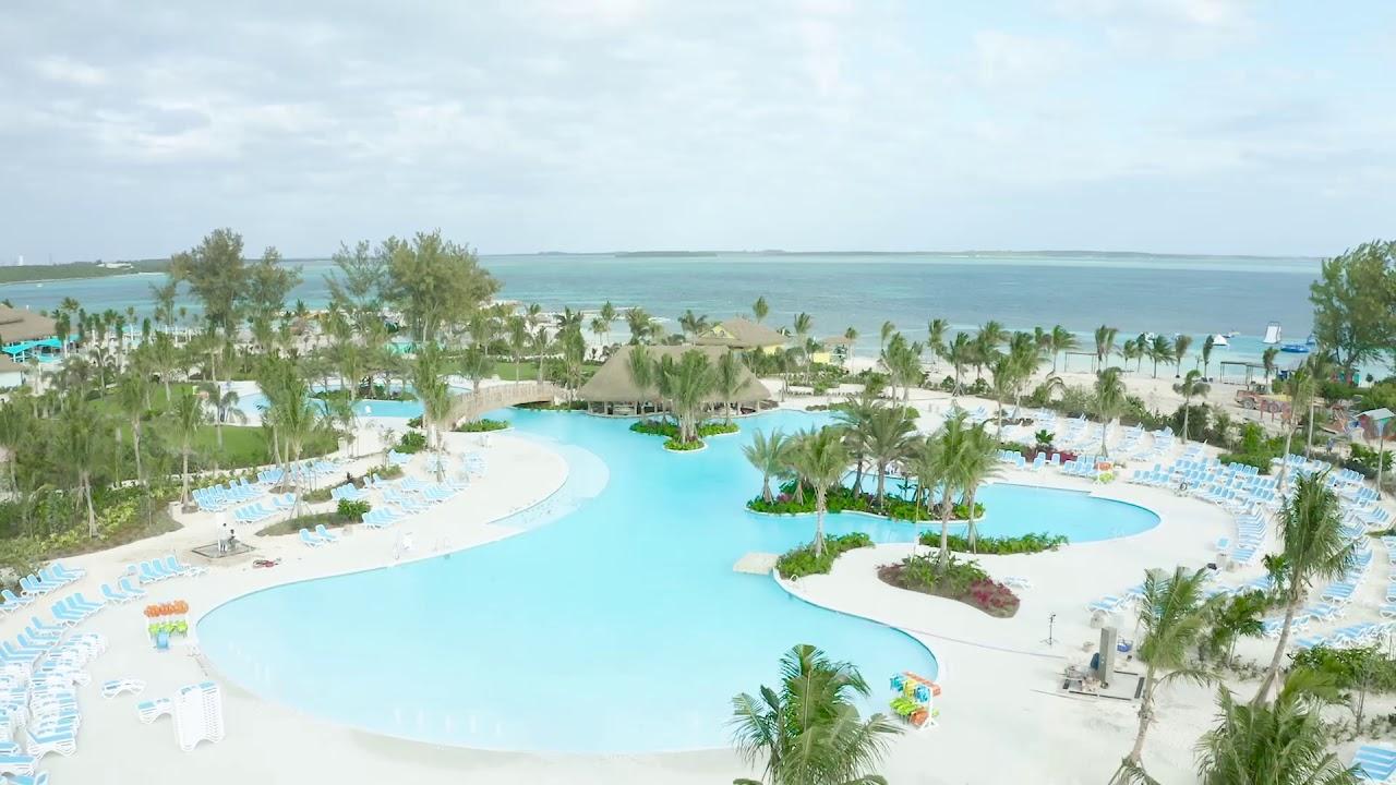 Oasis Lagoon di Pulau Pribadi Perfect Day at CocoCay di Bahama.