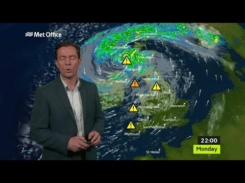 Monday afternoon forecast 16/10/17