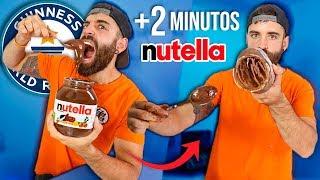 COMIENDO un bote de NUTELLA en MENOS 3 MINUTOS +4.500kcal (nutella challenge en TIEMPO RÉCORD)