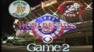 1990 World Series Game #2: A's at Reds