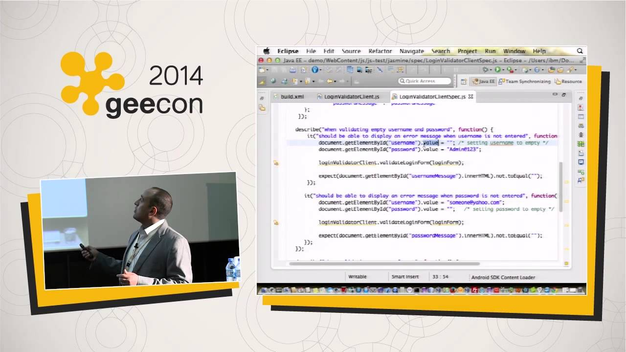[geecon 2014] Jasmine Automated Tests For Javascript