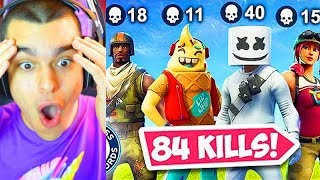 *WORLD RECORD* 84 KILLS EN SQUAD FORTNITE - AlphaSniper97