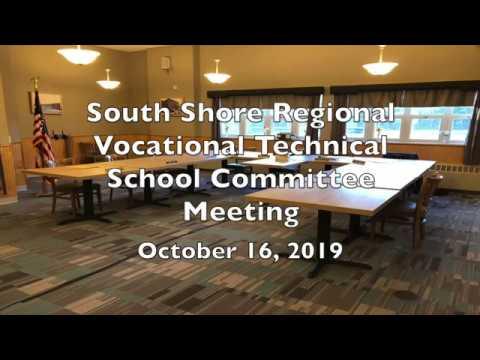 SSVT School Committee; October 16, 2019