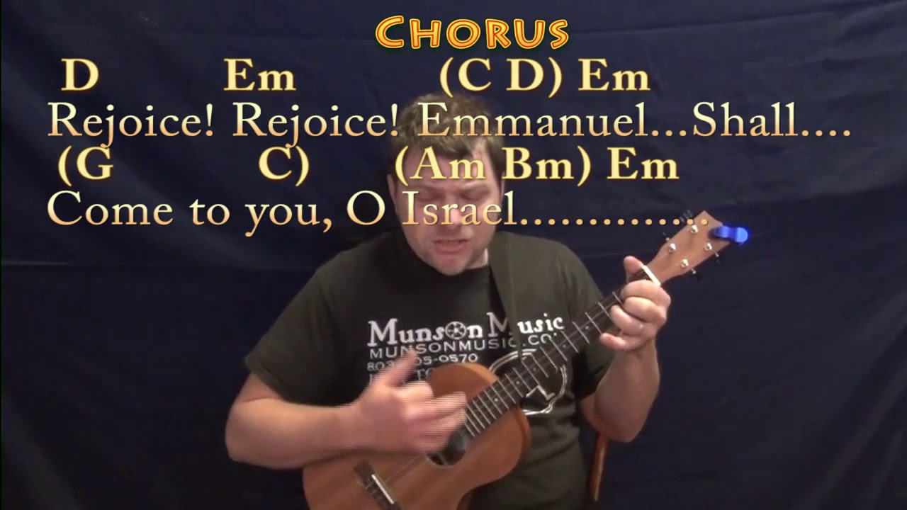 O Come O Come Emmanuel Christmas Bariuke Cover Lesson In Em With