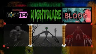 ROBLOX THE RAKE BLOOD HOUR VS NIGHTMARE VS NORMAL| UV LIGHTS N STICK EPIC FIGHT