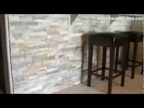 Wall Stone Installation Lowes Desert Quartz Ledgestone Youtube