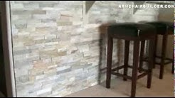 Wall Stone Installation:  Lowes Desert Quartz Ledgestone