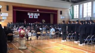 卒業式での校歌