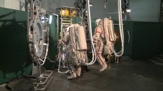 ESA astronauts training for ISS
