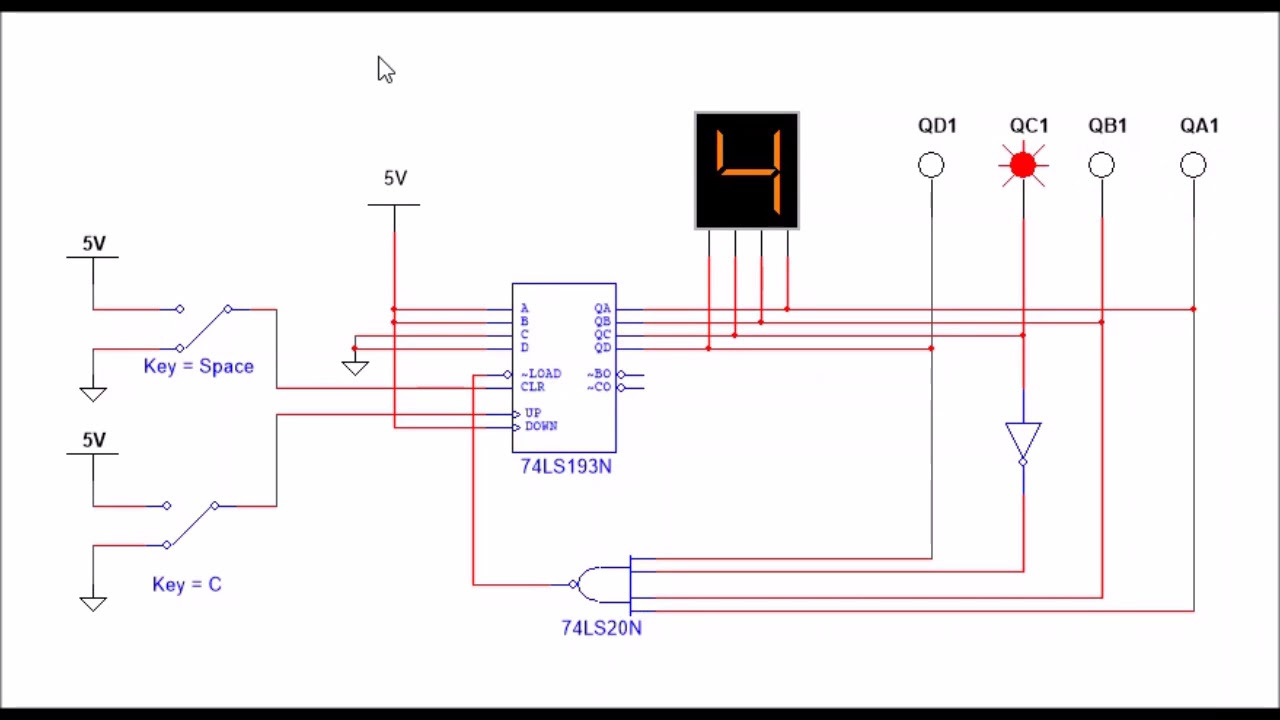 Integrated Synchronous Counter 74193 - YouTubeYouTube