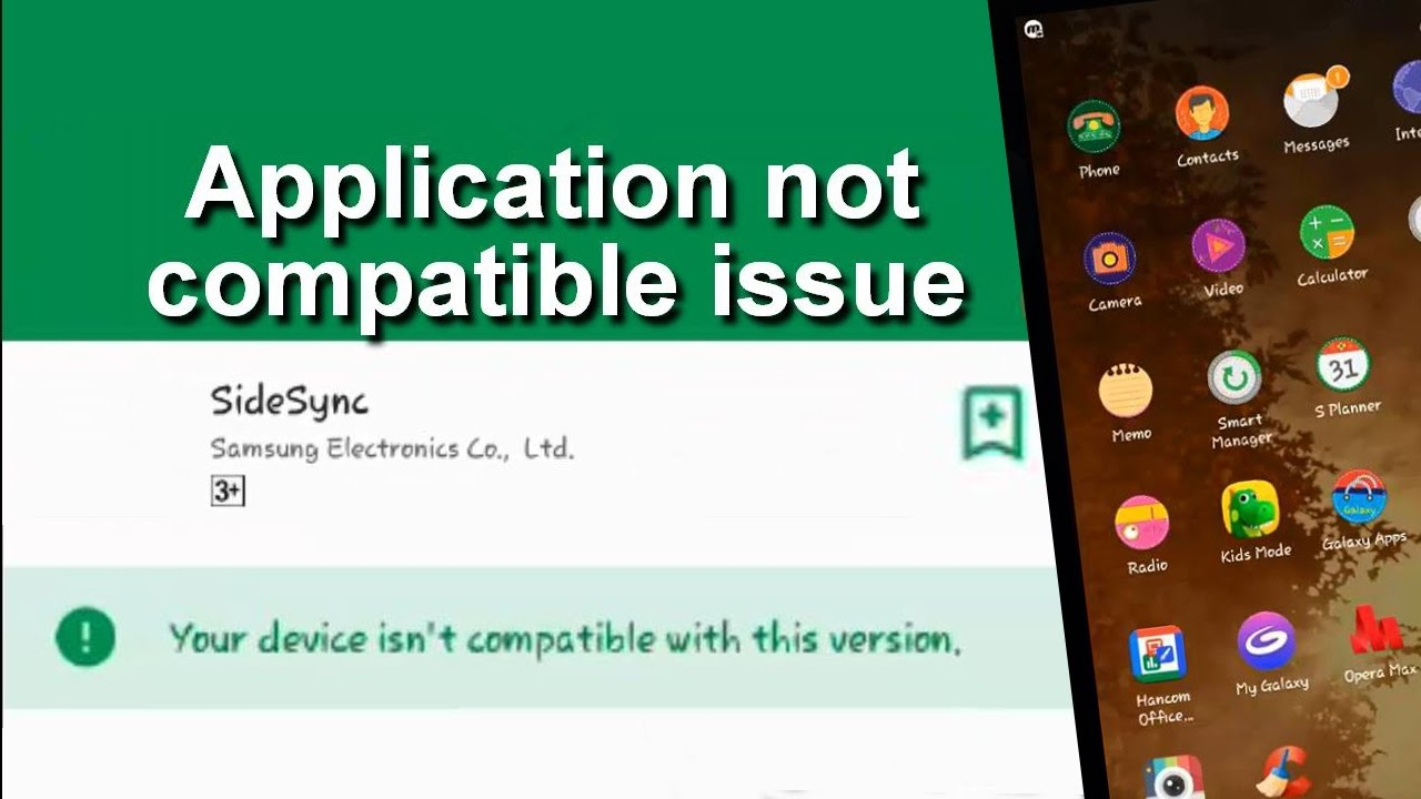 Your device isn't compatible with this version | android tablet issue
