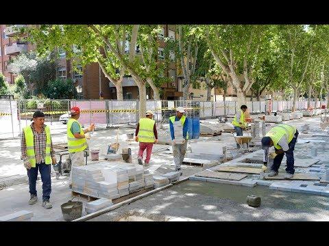 Las obras de peatonalización de Alfonso X hasta La Circular, a pleno rendimiento