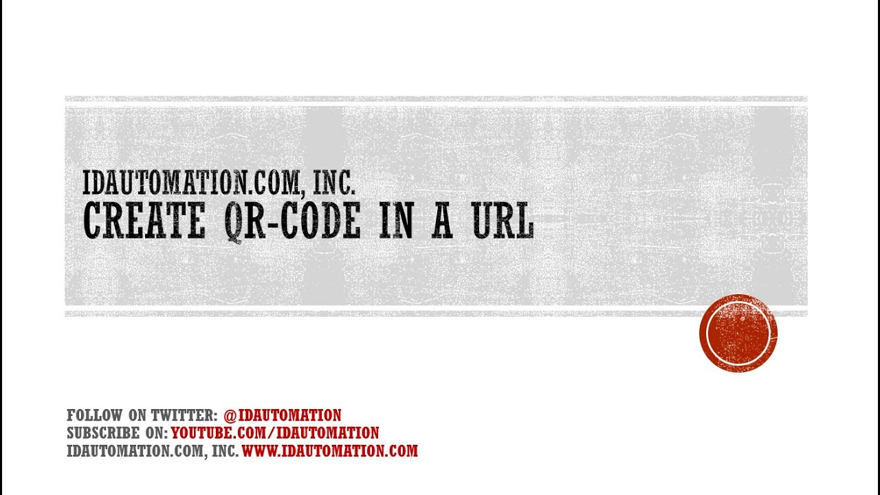 Encode a URL or Website in QR Code with the IDAutomation Online Generator