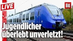 🔴  Zug überrollt schlafenden 15-Jährigen in Rheinland-Pfalz | BILD Live